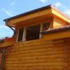 Отделка слухового окна на крыше