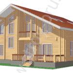 3D-вид дома по проекту Флагман