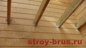 Потолочные балки после установки