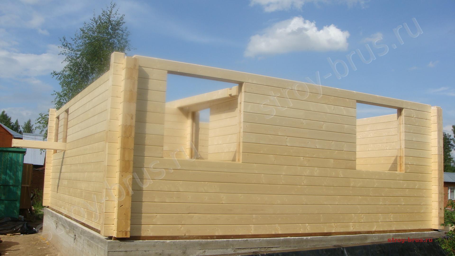 Дом из профилированного бруса своими руками конструктор