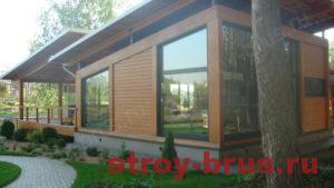 Построенный деревянный дом