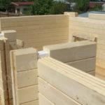 Этап строительства дома из бруса