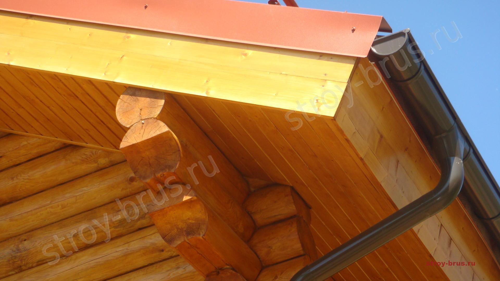 Отделка карниза крыши своими руками