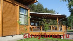 Проект деревянного дома с терассой