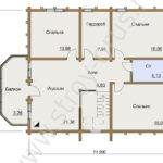 План второго этажа дома Усадьба