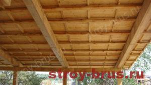Навес деревянного дома