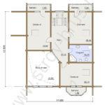 План второго этажа дома Скандинавия