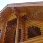 Карниз крыши после подшивки