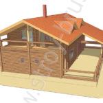 3D-вид на проект дома Дипломат