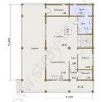 План первого этажа дома Дипломат