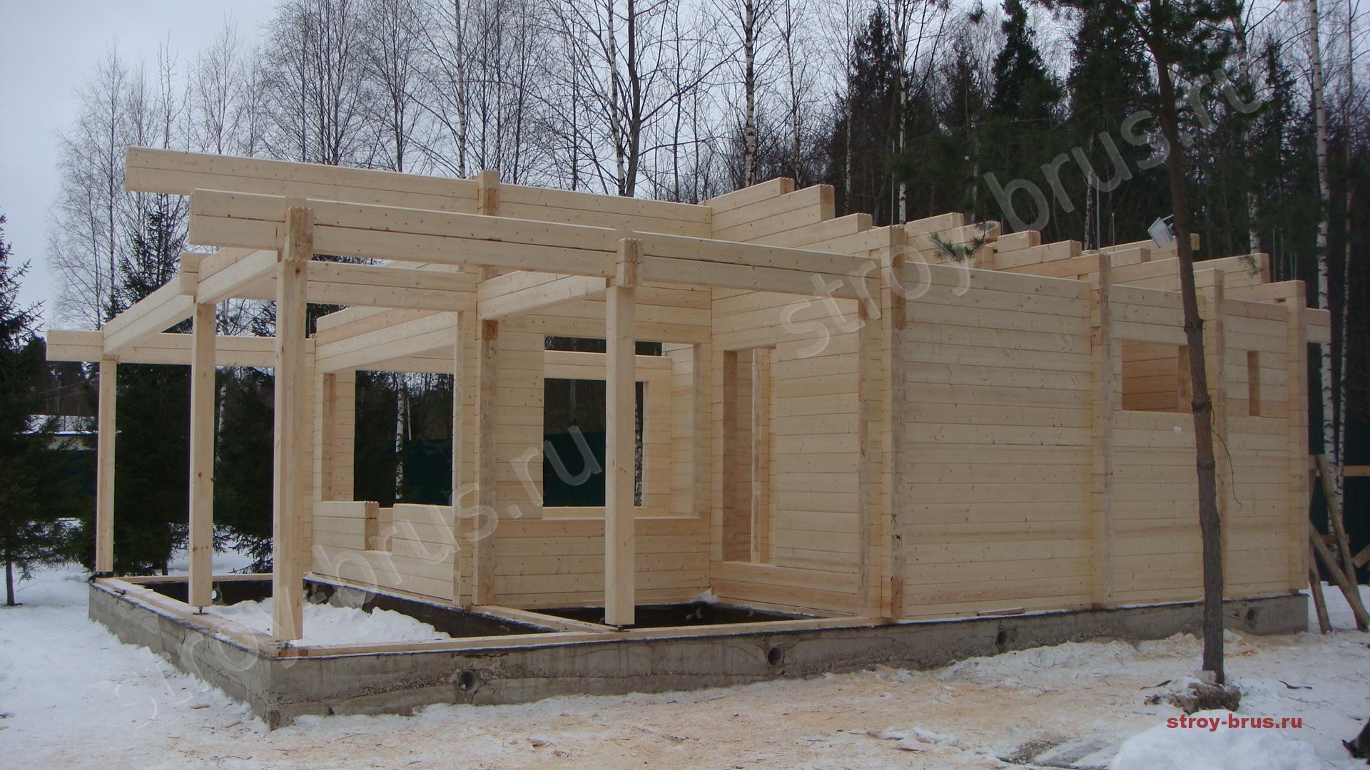 Строить дом из клееного бруса своими руками 96