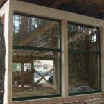 Установка окон в доме из клееного бруса