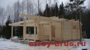 Процесс остекления деревянного дома