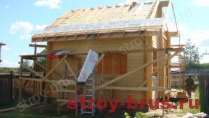 Деревянный дом с баней