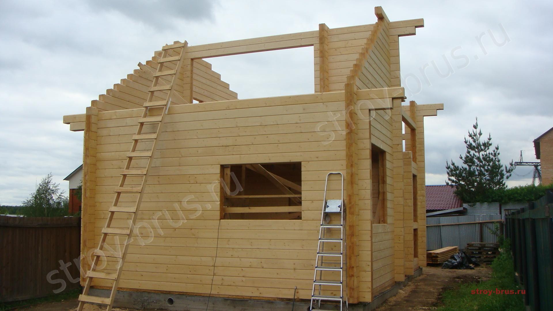 Дом из бруса своими руками - 100 фото и пошаговая инструкция 66