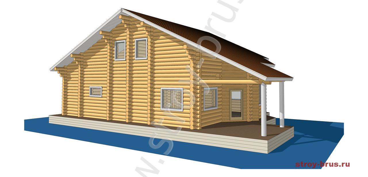 Деревянный дом Остог