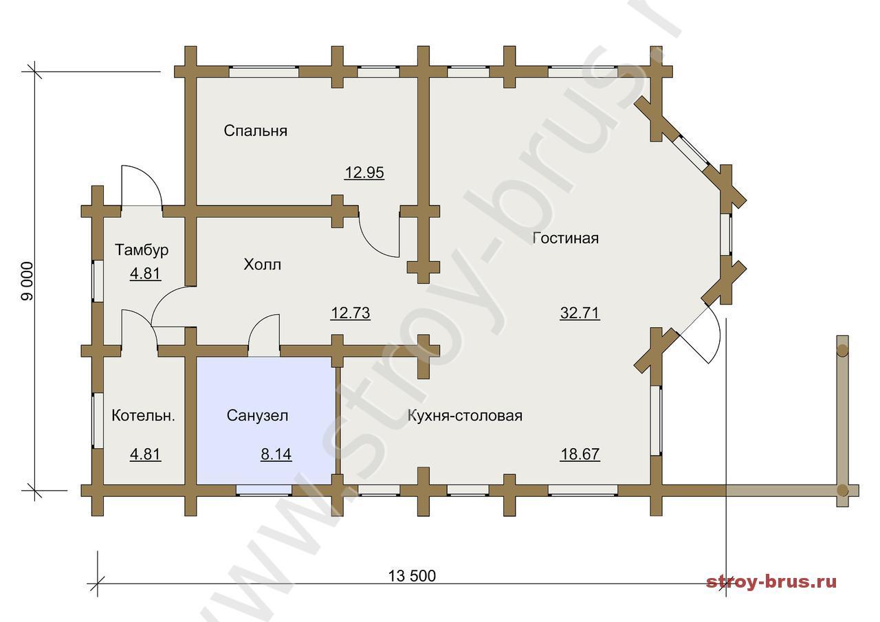 План первого этажа дома Остог