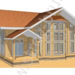 Проект дома Каскад в 3D