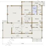 План первого этажа в доме Семейный