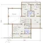 План второго этажа в доме по проекту Семейный