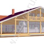 3D-модель дома по проекту Лесничий