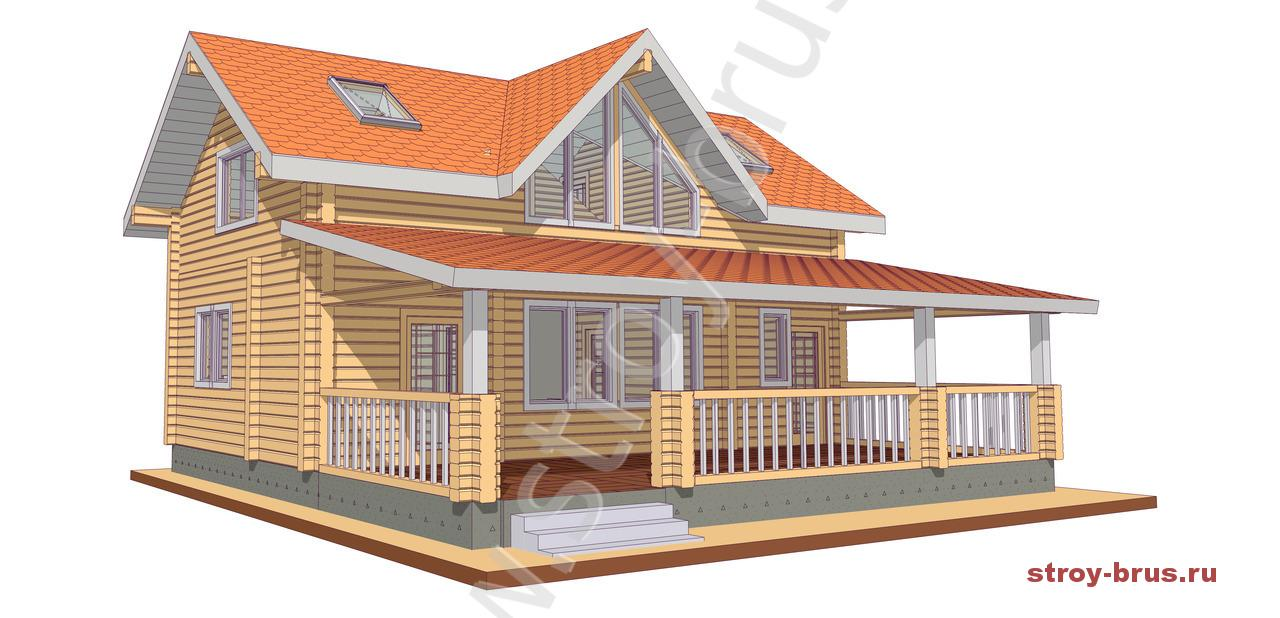 Деревянный дом Павильон