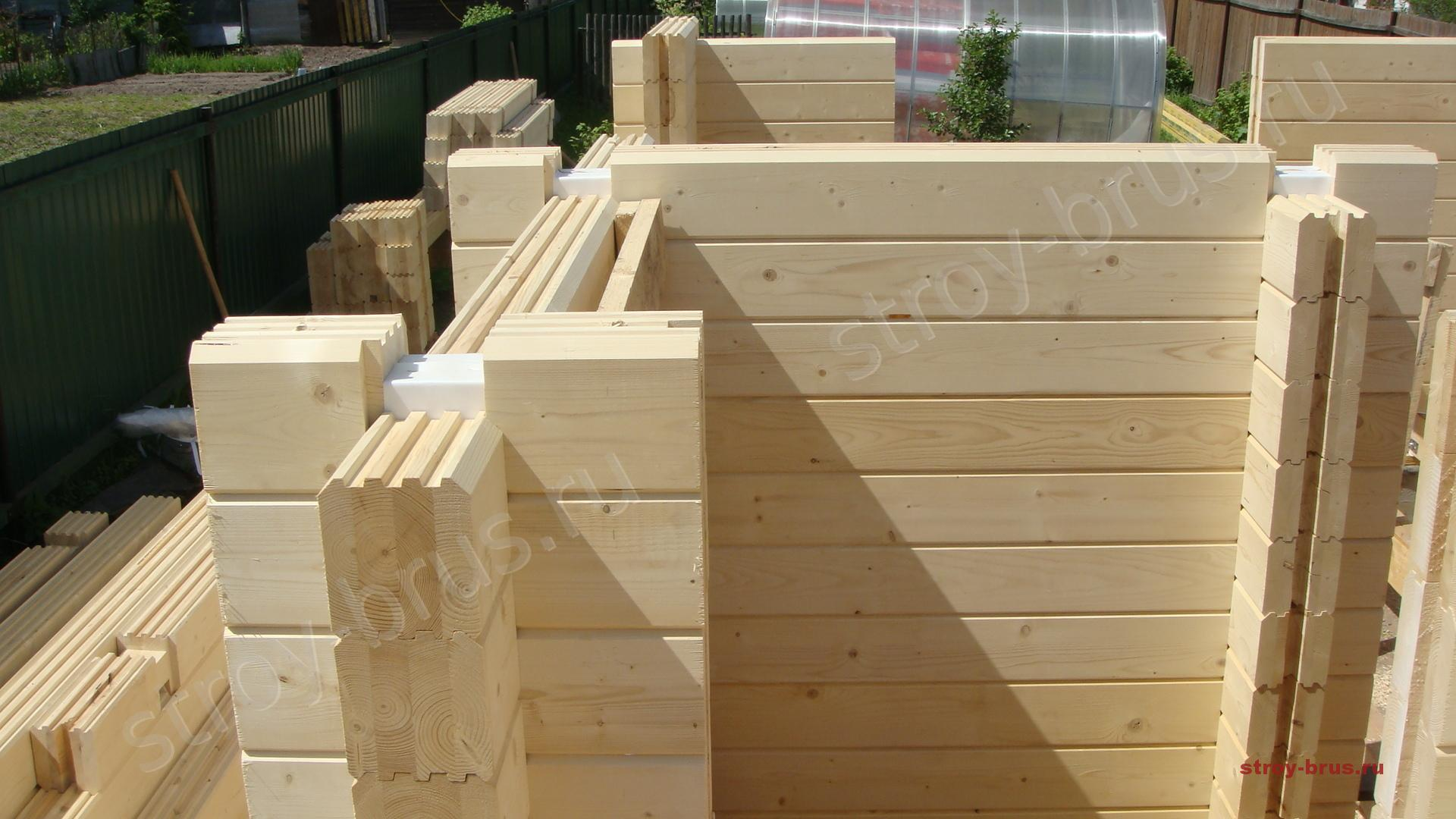 Как сделать современный деревянный дом из клееного 13