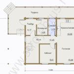 План первого этажа в доме Мечта