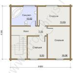 План второго этажа в доме Мечта