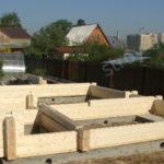 Начальный этап строительства из клееного бруса