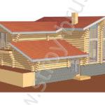 Проект дома Массив в 3D