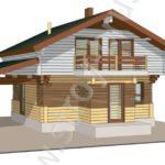 3D-модель дома по проекту Консоль
