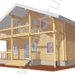 Проект деревянного дома Куб