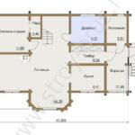 План первого этажа дома Терем