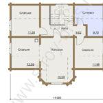 План второго этажа в доме Терем