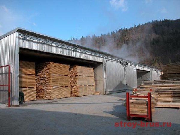 Как выполняется сушка древесины