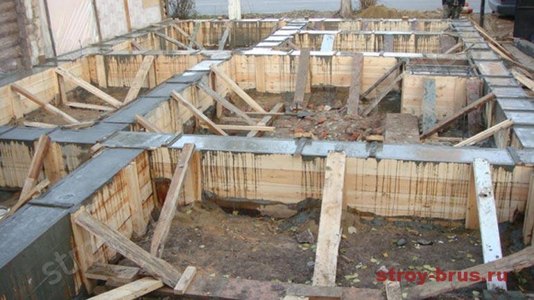 Правила укладки бетонированного фундамента