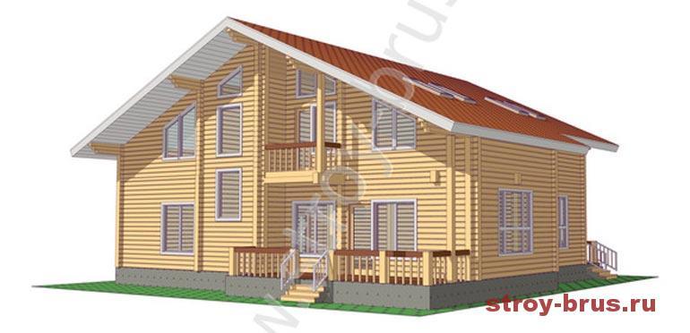 Как выглядит дом из бруса Флагман