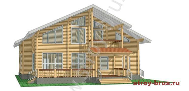 Проект брусового дома Флагман под ключ за 4 900 000 рублей