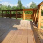 Террасные покрытия для дома из бруса: что выбрать, как смонтировать?