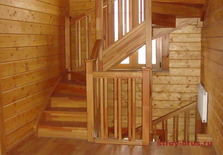 Как оформить деревянный коттедж внутри