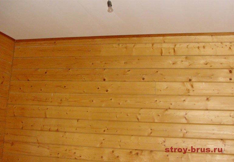 Пример отделки деревянного коттеджа изнутри