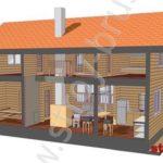 Как выглядит дом из бруса недорого