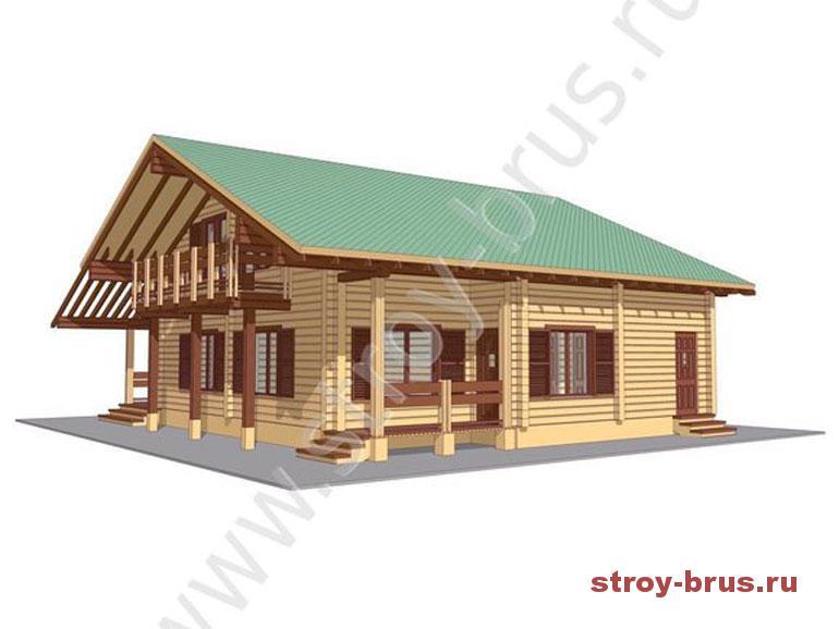 Как выглядит дом из клееного бруса в стиле шале за 3 400 000 рублей