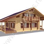 Как выглядит дом из клееного бруса