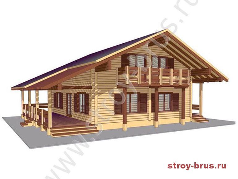 Как выглядит дом из клееного бруса за 3 400 000 рублей