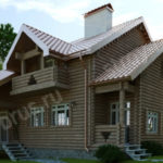 Строительство домов из оцилиндрованного бревна в Москве