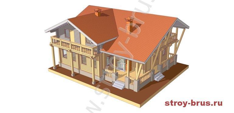 Проект дома из бруса Штандарт