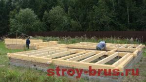 Строительство основы деревянного дома