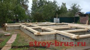 Строительство фундамента для деревянного дома